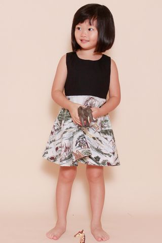 Wild Wild Safari Dress (Little Girl Charm)