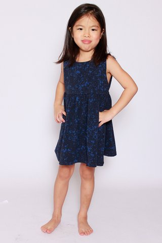 PlayDate | Blue Splatter Dress (Little Girl)