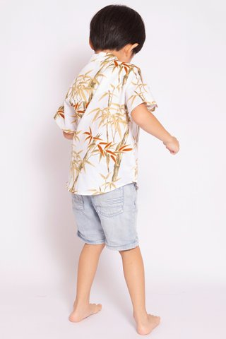 Xena Shirt in Snow Bamboo (Boys)