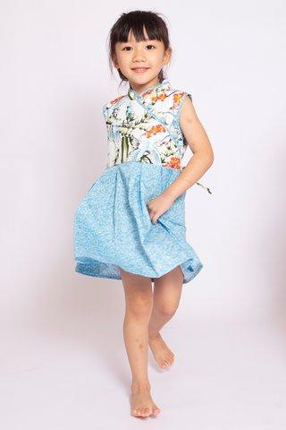 Oriental Crane Dress (Girls)