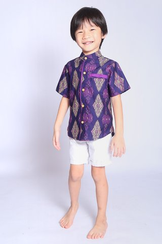 Henrietta Shirt Purple Batik (Boys)