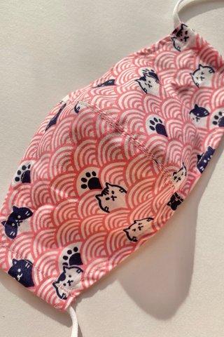 Peek-A-Boo Fan Mask - Pink (3 sizes)
